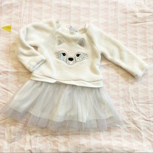 Children's Place Winter Dress with Tulle